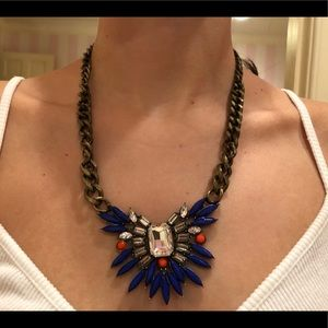 Jewelry - Blue and Orange Statement Necklace